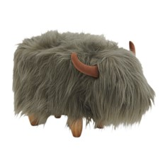 Georgette Highland Cow Footstool
