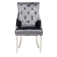 Valentina Scarlett Dining Chair - Charcoal