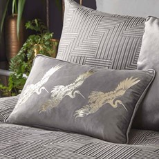Laurence Llewelyn-Bowen Qing Cushion  Silver