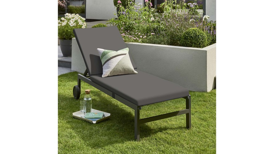 Venus Adjustable Wheeled Sunlounger with Cushion