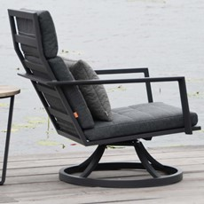 Maroon Garden Swivel Chair