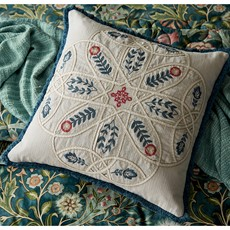Wilhelmina Cushion Linen & Teal