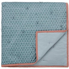 Harita Quilted Throw Soft Teal