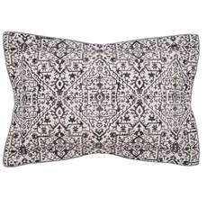 Dhaka Oxford Pillowcase Charcoal