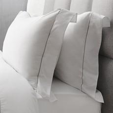 Sterling Home Savile Oxford Pillowcase White & Silver Cord