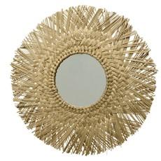 Round Mirror With Sea Grass Fringes 50cm