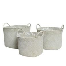 White Sea Grass Basket