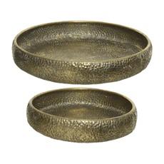 Metal Relief Antique Gold Bowl