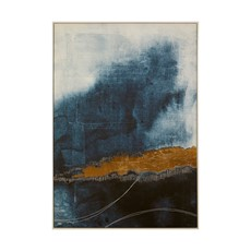 Goldfoil Blue Astratto Wall Art