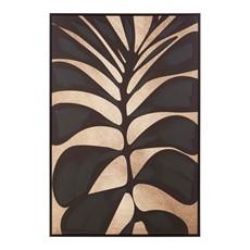Black Leaf Oil Astratto Canvas Wall Art