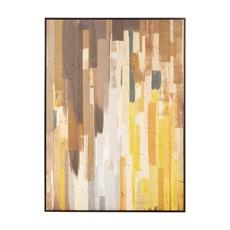 Ochre Oil Astratto Canvas Wall Art