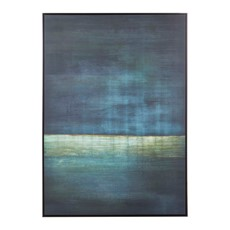 Teal Goldfoil Astratto Canvas Wall Art