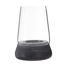 Grey Marble Glass Hurricane Candle