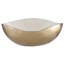 Trinket Bowl White & Gold