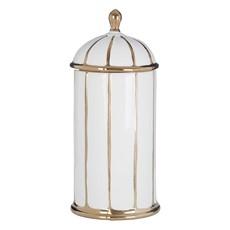 Large Ceramic Jar White Gold