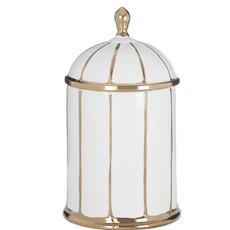 Medium Ceramic Jar White Gold