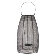 Large Black Metal Glass Lantern