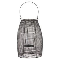 Small Black Metal Glass Lantern