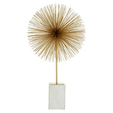 Starburst Sculpture Gold White Marble