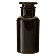 Apothecary 500Ml Black Glass Reagent Bottle