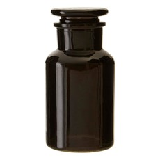 Apothecary 250Ml Black Glass Reagent Bottle