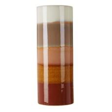 Rust Stripe Stoneware Vase - Large