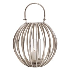 Small Round Silver Lantern