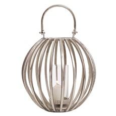 Large Round Silver Lantern
