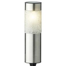 6 Stainless Steel Solar Lights - Warm White