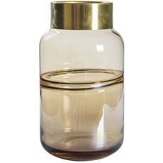 Amber Lustre Glass Vase