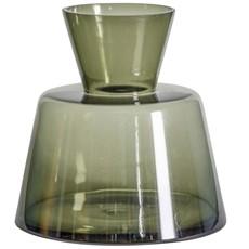 Green Funnel Glass Vase