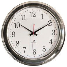 Contemporary Chrome Wall Clock