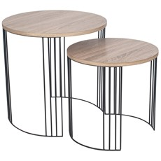 Round Side Table - Set of 2