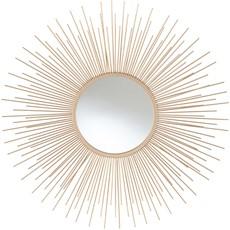 Starburst Round Wall Mirror - Gold