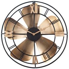 Metal Fan Design Wall Clock