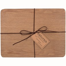 Oak Veneer Placemats - Set of 4