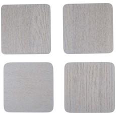 Naturals Grey Wood Veener Coasters - Set of 4