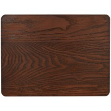 Naturals Brown Wooden Placemats - Set of 4