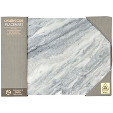 Naturals Marble Placemats - Set of 2