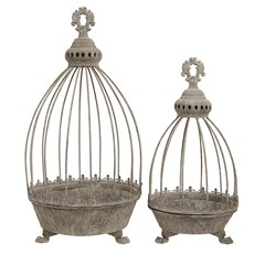 Caged Planters  - Set Of 2