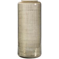 Mesh Detail Glass Vase