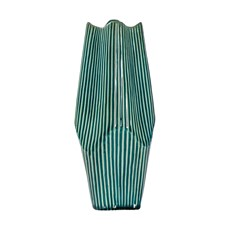 Turquoise Ceramic Vase  - Large