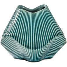 Turquoise Ceramic Vase - Medium