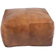 Leather Square Pouffe