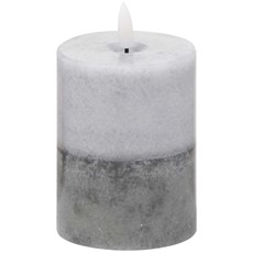 Natural Glow Grey Dipped LED Candle