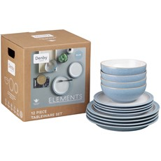 Denby Elements Blue Tableware Set - 12 Piece