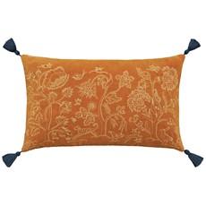 Honeysuckle & Tulip Cushion - Saffron