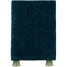 Honeysuckle & Tulip Quilted Throw - Teal