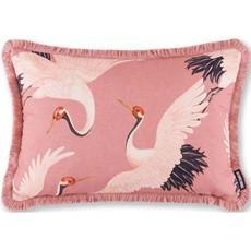 Oriental Birds Blossom Feather Cushion