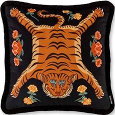 Tibetan Tiger Black Feather Cushion